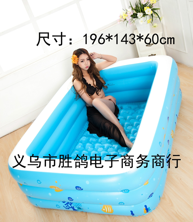 Grands enfants famille en plein air coloré bulle fond éclaboussures adulte baignoire gonflable Piscine 196x143x60 cm