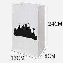 50 шт Мультяшные победы игра ламы Попкорн сумка для вечеринок Еда Подарочный пакет День рождения украшение, бумажный пакет, с фабрики