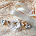 TOPQUEEN A176 FREE SHIPPING Elegant Flower Style Bridal Sash Charming Fabric Wedding Party Bride Belt Charming Wedding Sashes