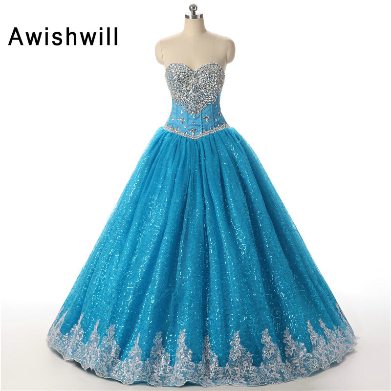 Vestidos de 15 Anos Real Photo Ball Gowns Party, Sweetheart Beaded Applications Beat Long Girl Vajzat Quinceanera 2019