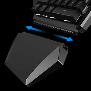 Mini Mechanical Blue Switches PC Gaming Keypad for FPS Games, One-hand Keyboard with LED light - GK100 17