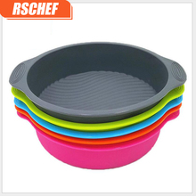 1pcs Creative food-grade round silicone cake mold cake baking pan high temperature bread baking tools 9inch