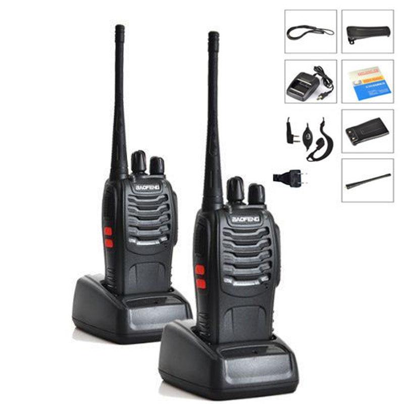 2 pcs/lot Baofeng BF-888S Talkie Walkie 5 w De Poche Pofung bf 888 s UHF 400-470 mhz 16CH Deux -façon Portable CB Radio