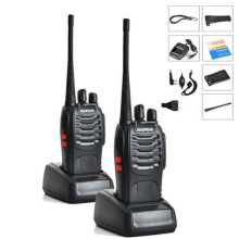 2PCS/LOT Baofeng BF-888S Walkie Talkie 5W Handheld Pofung bf 888s UHF 400-470MHz 16CH Two-way Portable CB Radio