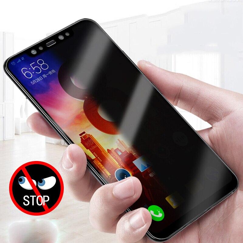 Secret-proof Anti Spy Tempered Glass For Xiaomi Mi 8 For Xiaomi Mi 8 Explorer Full Cover Privacy Screen Protector For MI8 Glass