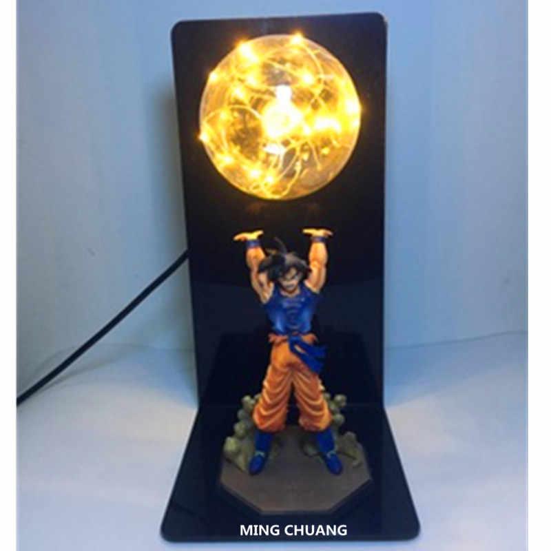 Dragon Ball Z Saiyan Son Goku креативная Настольная лампа с светодиодный свет ПВХ, движущаяся фигурка, Коллекционная модель, игрушка D440