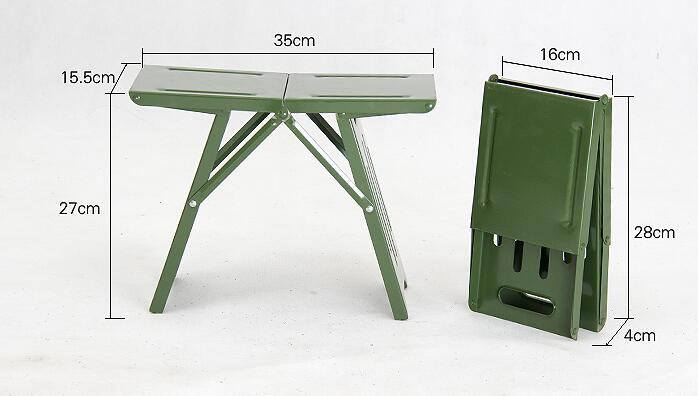 Metal Folding Thicken Step Portable children Stools outdoor fishing desk Travel home ultra light folding stool chair 1pc C604