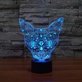 3D Gato Luz de La Noche de Interior lámpara de Mesa Touch Sensor Led lámpara de Noche La Iluminación TENUE 7 Que Cambia de Color led luz de la noche outlet