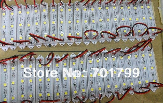 promotion!!!3pcs 5050 SMD LED module,plastic case,WHITE color,DC12V,20pcs a string;75mm*12mm;please advise the color you need