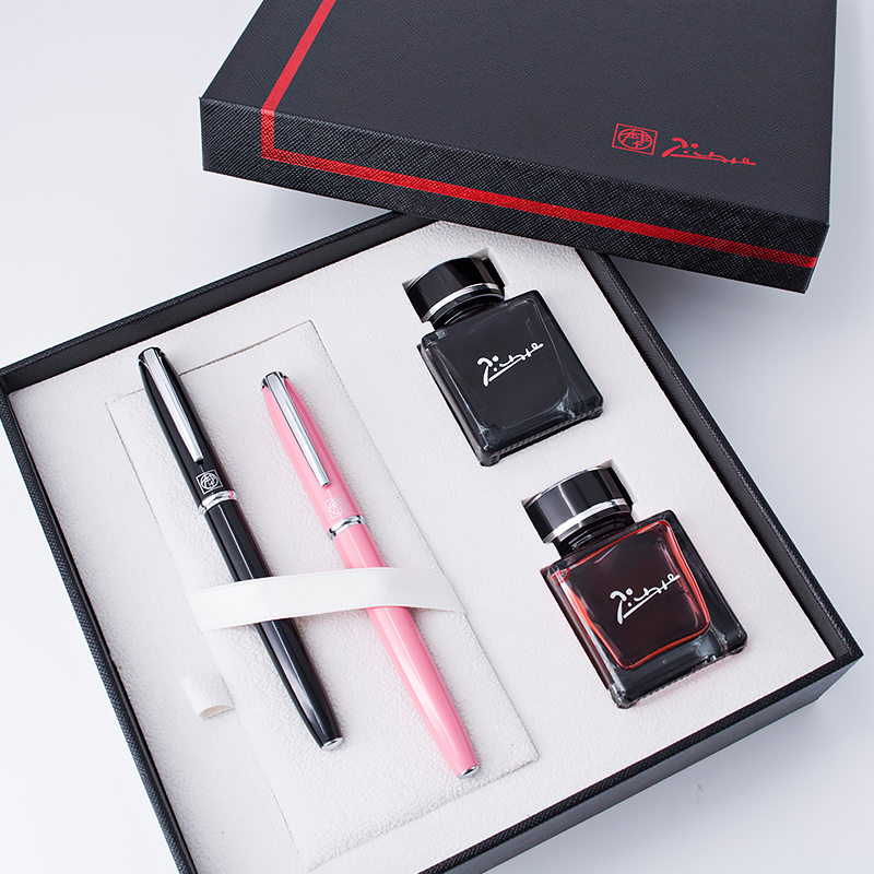 High-end Picasso Pimio Silver Clip Fountain Pen Gift Ink Set 0.38mm 0.5mm Ink Pens Luxury Christmas Gift for Lovers Friends 2pcs pimio 917 gold silver clip rollerball pen fountain pen for lover high quality gift pens with an original gift box
