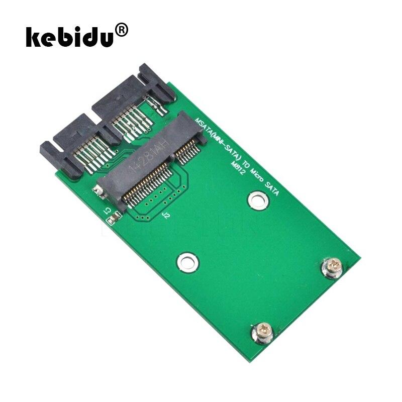 Kebidu Mini Sata к Micro SATA преобразователь Mini PCI-E MSATA SSD к 1,8 Micro Sata 16Pin карта адаптера доки 39 мм x 65 мм