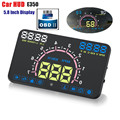 "E350 Auto Car HUD OBD2 5.8"" Head Up Display Car Hud Speeding Warning Windshield Projector System for Cars with OBDII Interface"