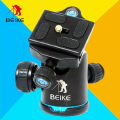 "BEIKE BK-03 BK03 Aluminum Alloy Tripod Ball Head With Quick Release Plate 1/4"" Screw & Two Levels Maximum Load 8KG"