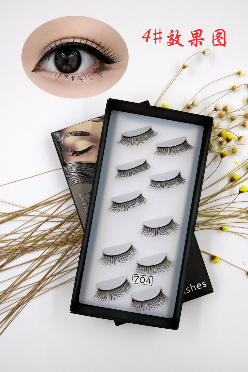 YANYAXI 100% Hand Made 5 Pairs False Eyelash New Natural Eye Lashes Natural Soft Handmade Thick Fake Eyelashes Make up tool