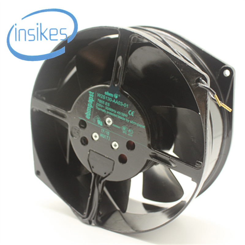 все цены на Original W2S130-AA03-01 Double Ball Bearing Cooling Blower Turbo Fan AC 230V 45W 172150 172*150*55mm 2 Wires 2800RPM онлайн