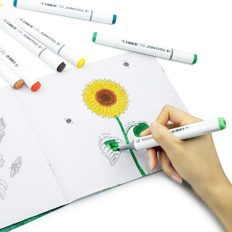 cabeca marcador artista para desenhar manga caligrafia escova caneta 03