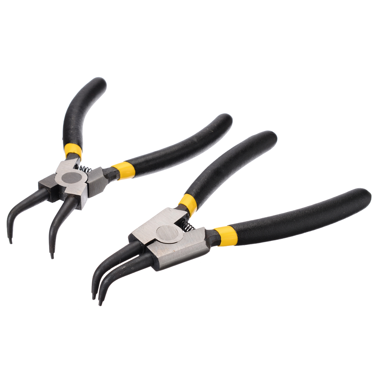 4pcs New 6 inch 150mm Circlip Pliers Set Snap Ring Plier Angled/Straight Hand Pliers Tools Kit for Inner & Outer Rings