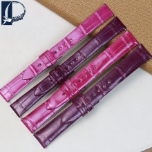 Pesno Rose Red Purple Dark Purple Lady's Watch Accessories Crocodile Leather Watch Band Strap Suitable for Jaeger-LeCoultre