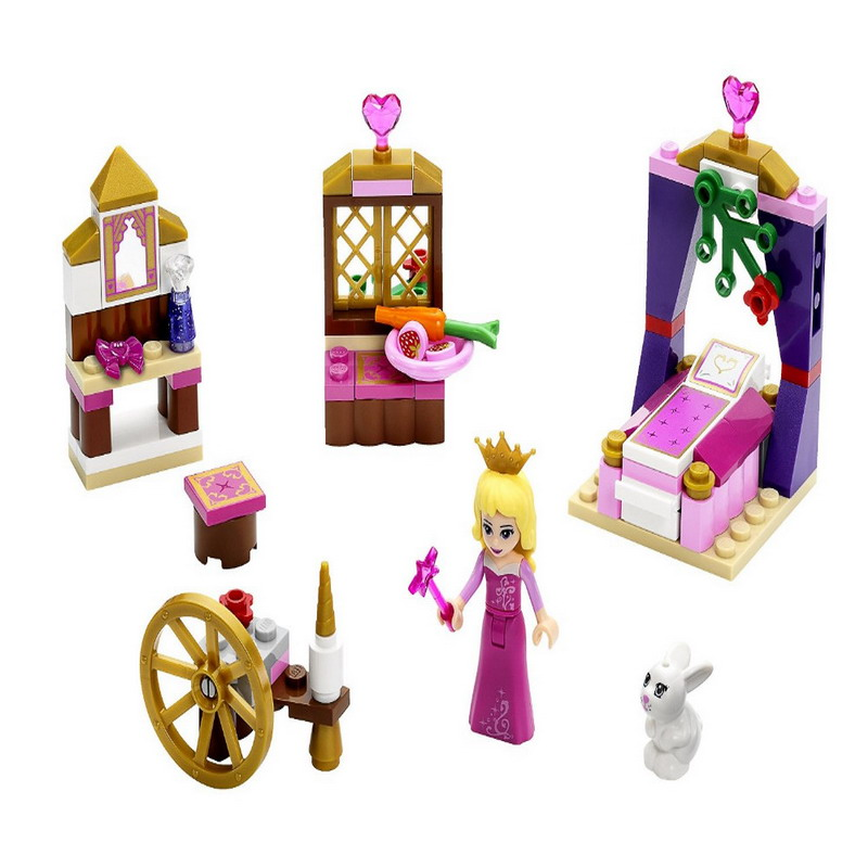 BELA 10433 Princess Sleeping Beautys Royal Bedro Figure Blocks Construction Building Bricks Toys For Children Compatible Legoe