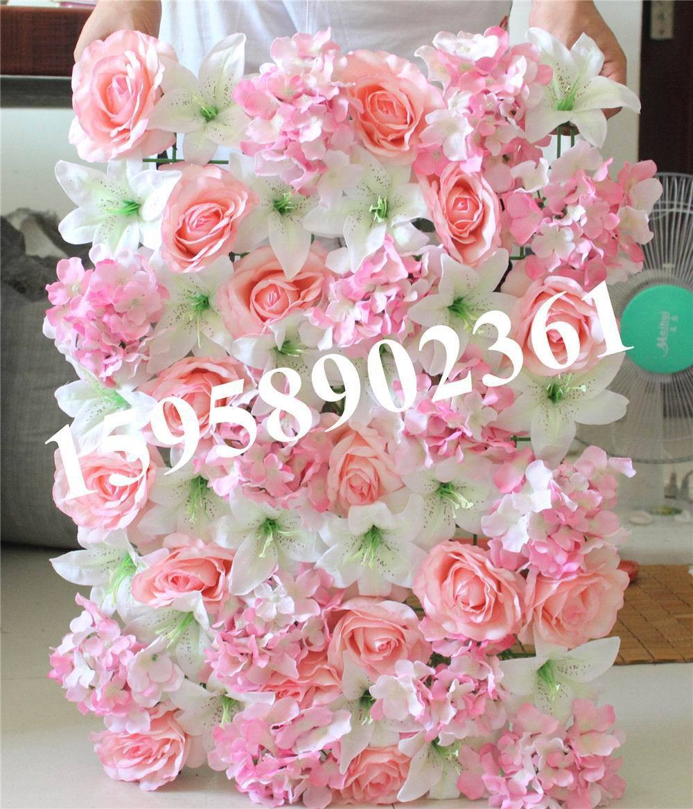 Spr free shipping 10pcslot mix lilyrose hydrangea wedding flower spr free shipping 10pcslot mix lilyrose hydrangea wedding flower wall artificial flowers backdrop lawnpillar decoration in artificial dried flowers izmirmasajfo