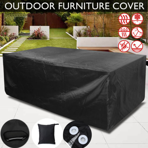 6 Size Outdoor Furniture Cover Patio Garden Table Chair Shelter Sun Protector Waterproof Dustproof