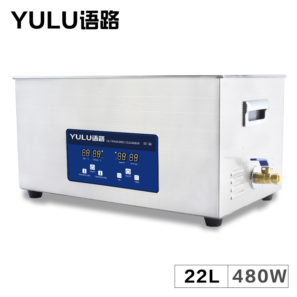 Digital Ultrasonic Cleaning Machine 22L Bath Mainboard Car Metal Oil Rust Parts Degreaser Tank Degass Sweep Frequency Washer