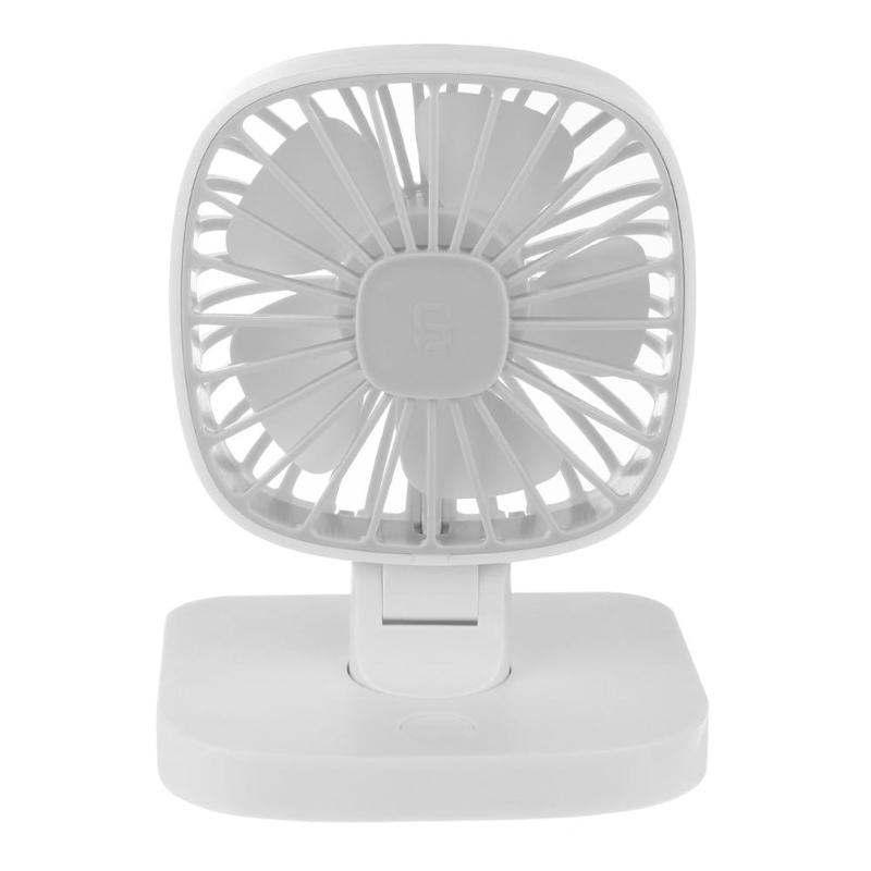 1Pcs Car USB Powered 3-Speed Strong Wind Low Noise Mini Air Cooling Fan White Adjustable Air Cooling Fan Low Noise Summer New