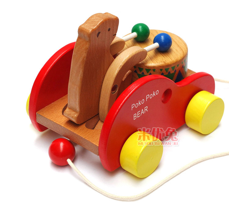 Children 39 s Toy Musical Instrument Cubs beat drums BABY Early Learning creative wooden toys children educational learning toys in Toy Musical Instrument from Toys amp Hobbies