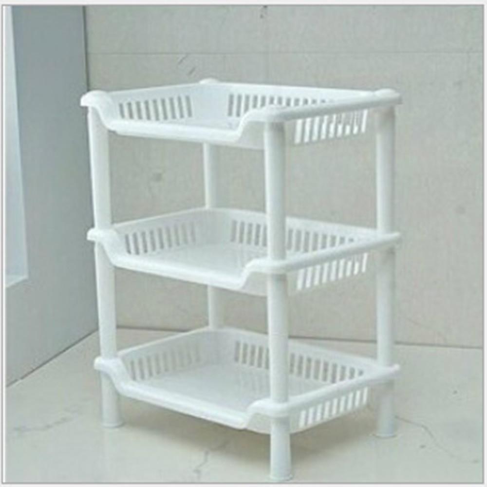 New Plastic 3 Layers Bathroom Kitchen Corner Storage Rack Organizer ...