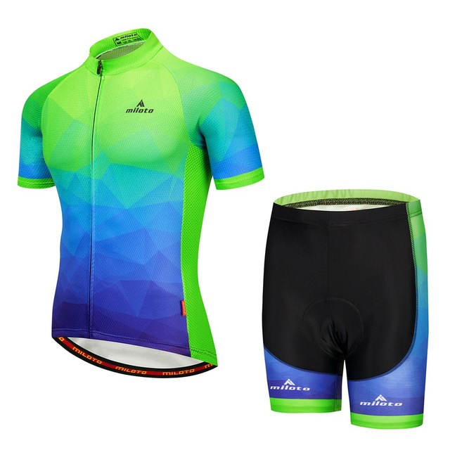 Men s Cycling Jersey Set Reflective Ropa Ciclismo Mountain Bike Jerseys   Cycling  Shorts Kit Maillot Ciclismo Boy s Cycling Set a761c55c0