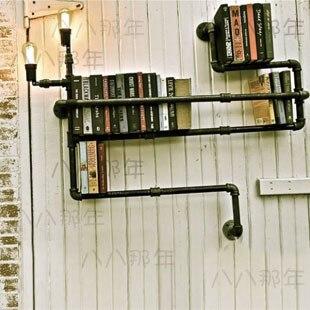 Free Shipping Wall Lamp Water Pipe Bookshelf Lights Chalybeate Metal