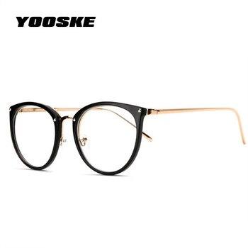 YOOSKE Oversized Clear Lens Glasses 1