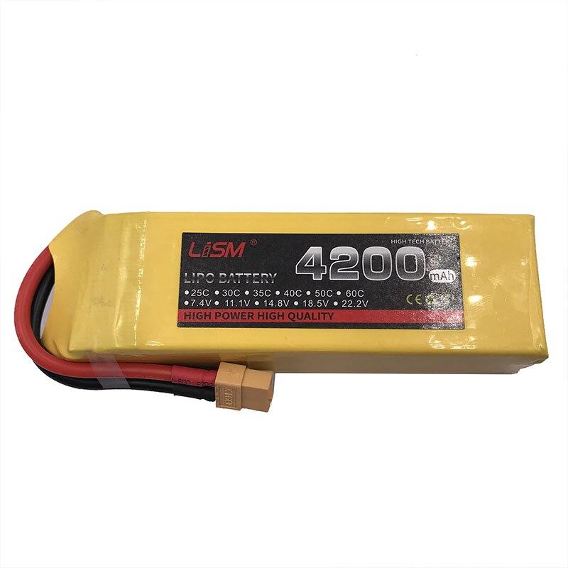 Lipo batterie 4 S 4200 mAh 14.8 V 40C pour RC voiture vélo camion Drone hélicoptère quadrirotor Rechargeable 4 S 40C 4200 mAh 14.8 V #20y71