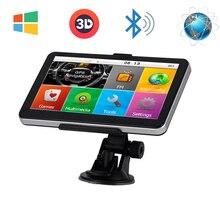 7 »автомобильный Грузовик gps навигации Windows CE 6,0 FM Bluetooth av-в 8 ГБ/800 мГц навигатор карта для Европы/Навител/США жизни Карты