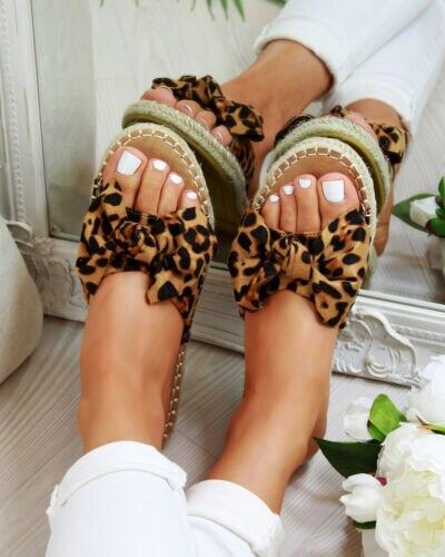 Oeak 2019 New Women  Summer slippers Slip On Sandals Bow Flat Mule Summer Sliders  Shoes SizesOeak 2019 New Women  Summer slippers Slip On Sandals Bow Flat Mule Summer Sliders  Shoes Sizes