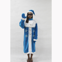 2017 New Arrival Women Christmas Santa Claus Costume Christmas Sexy Blue Cosplay Dress Xmas Costume For Adult