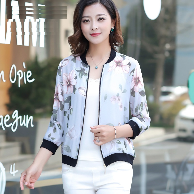 Wholesale Elegant Fashion Women Outwear Coats Real Silk Women Jackets Three Quarter Sleeve Coats Large Size