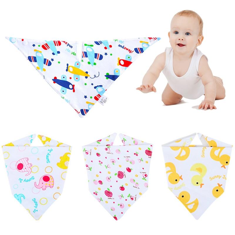 Bib Cotton Soft Convenient Baby Saliva Bibs Triangular Towel Funny Design Waterproof Cute Cartoon Design Non-toxic