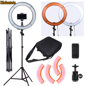 Image 1 - Dimmable 13 inches 45W LED SMD 5500K Ring Light Kit with Bag, Filter Set, Extended Mini Ball Head, Cellphone Holder, Light Stand