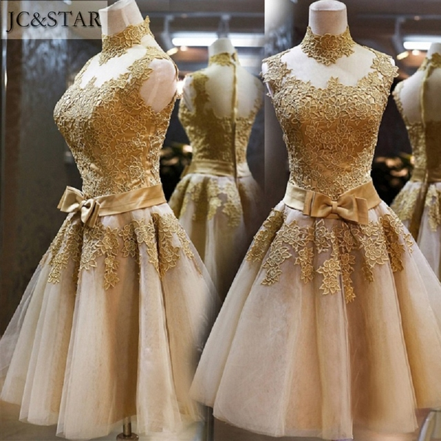 Kleid grun gold