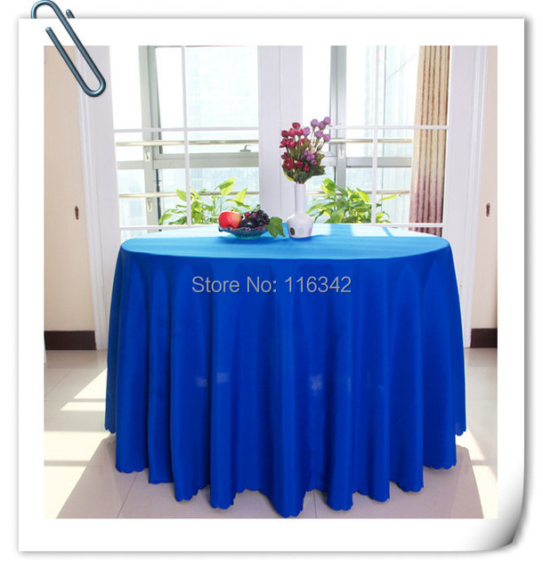 10 Pieces 90 U0027u0027 Round 100% Top Quality Royal Blue Polyester