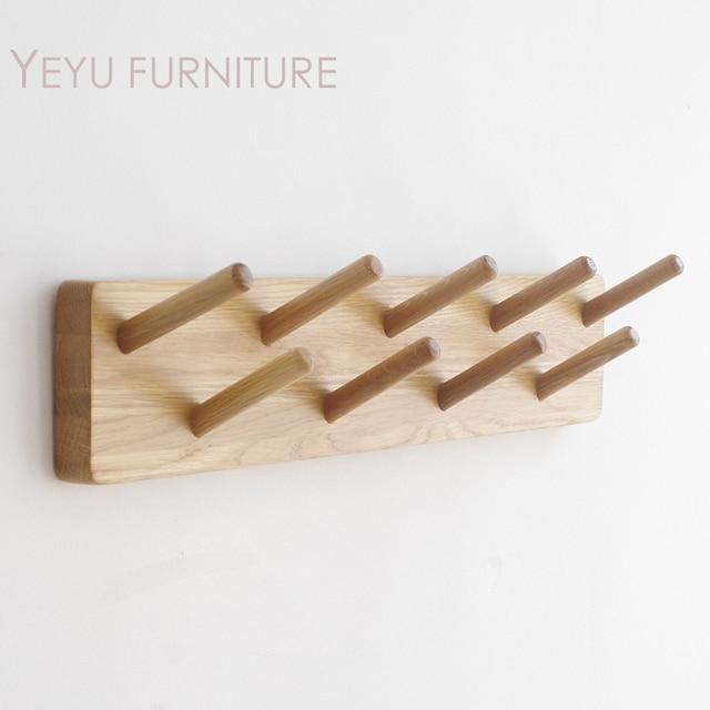 Aliexpress Buy Modern Design Wall Mounted Solid Oak Wood Coat Classy Wall Mounted Wood Coat Rack
