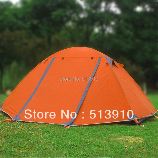 FLYTOP 2persons aluminum pole double layer double door windproof professional camping 4season tent without snow skirt