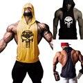 Mens singlets gymshark moletom com capuz camisolas dos homens g-y-m clothing muscle stringer musculação regata capuz camisa do crânio colete