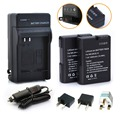 2 Pcs EN-EL14 EN EL14 baterias + carregador + carregador de carro + plugue Repalcement para Nikon Coolpix P7000 P7100 D3100 D3200 D5100 1400 mAh
