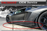 Car Styling Carbon Fiber Bodykits Side Skirts Fit For 2011 2014 Aventador LP700 LP720 BKSS 750 Style Side Skirts Under Board