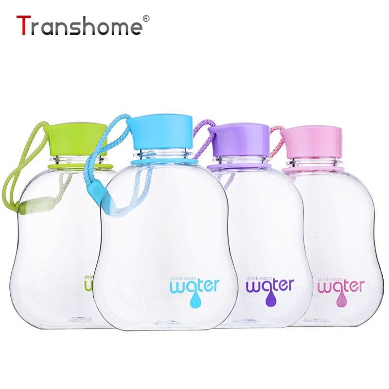 Transhome Portable Sport Bottle For Water Plastic Bottle 350ml Sport Drinking Water Bottle Leak Proof Travel Bottles Drinkware
