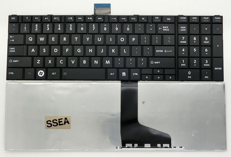 SSEA NEW US Keyboard for Toshiba Satellite C850 C850D C855 C855D C870 C870D C875 Laptop image