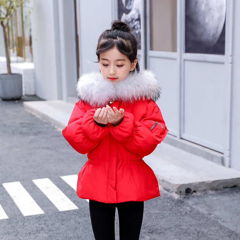 2018 Winter Coat Girl Fur Hooded Down Jackets Coats Children Winter Clothes Girls Fashion Sown Wear Outerwear for Teenage 5-12T2018 Winter Coat Girl Fur Hooded Down Jackets Coats Children Winter Clothes Girls Fashion Sown Wear Outerwear for Teenage 5-12T
