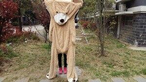 Image 5 - מכירת צעצוע גדול גודל 200cm ענק אמריקאים דוב עור, דובון מעיל, טוב באיכות Factary מחיר רך צעצועי עבור בנות